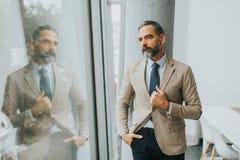 Portret starszy biznesmen zdjęcia stock