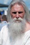 Portret starszy mężczyzna, wąsy i brodę Obrazy Royalty Free