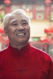 Portret starszy mężczyzna w Chińskiej tradycyjnej odzieży zdjęcie royalty free