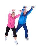 Portret starszy pary ćwiczyć Fotografia Royalty Free