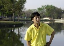 Starszy południowy azjatykci mężczyzna Obrazy Royalty Free