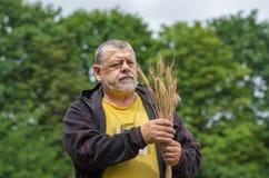 Portret starszy rolnik obraz stock