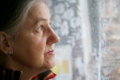Portret starszy wom obraz stock
