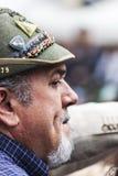 Portret stary włoski wysokogórski wojskowy Obrazy Stock