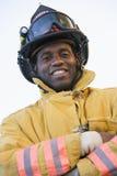 portret strażaka Zdjęcia Stock