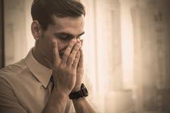 Portret stresu biznesowy mężczyzna Zdjęcia Stock