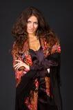 portret szale piękna kobieta obrazy stock