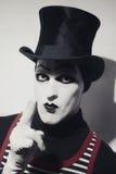 Portret szalenie hatter Zdjęcia Royalty Free
