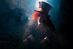 Portret szalenie hatter Obrazy Royalty Free