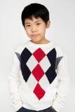 Portret Szczęśliwa azjatykcia śliczna chłopiec z uśmiech twarzą Obraz Stock