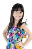 Portret szczęśliwa azjatykcia śliczna dziewczyna Obraz Stock