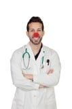 Portret Szczęśliwa błazen lekarka Obrazy Royalty Free