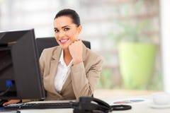 Biała biznesowa kobieta Obraz Stock