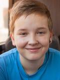 Portret szczęśliwa chłopiec Zdjęcia Royalty Free
