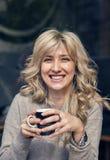 Portret szczęśliwa kobieta Fotografia Stock