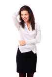 Portret szczęśliwa młoda kobieta Zdjęcia Stock