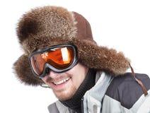 portret szczęśliwa narciarka Obrazy Royalty Free