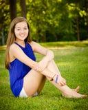 Portret szczęśliwa nastoletnia dziewczyna fotografia royalty free