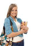 Portret szczęśliwa przypadkowa dziewczyna Fotografia Stock