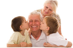 Portret szczęśliwa rodzina zdjęcie stock
