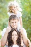 Portret szczęśliwa rodzina fotografia stock