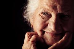 Starszy portret Zdjęcia Royalty Free