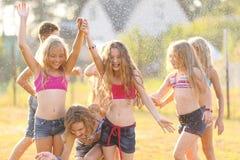 Portret szczęśliwi dzieci na naturze Fotografia Stock