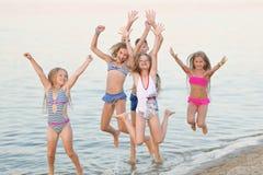 Portret szczęśliwi dzieci na naturze Fotografia Royalty Free