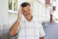 Portret szczęśliwi mężczyzna Obraz Stock