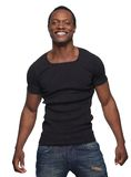 Szczęśliwy amerykanina afrykańskiego pochodzenia mężczyzna Zdjęcie Stock