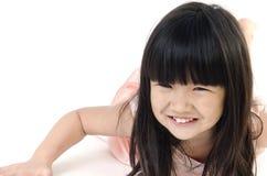 Portret Szczęśliwy azjatykci śliczny gril Fotografia Stock