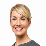 Portret Szczęśliwy bizneswoman Obrazy Royalty Free