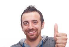 Portret Szczęśliwy młody człowiek zdjęcie royalty free