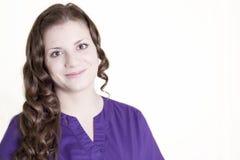 Portret Szczęśliwy opieka zdrowotna pracownik zdjęcie royalty free