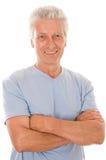 Portret szczęśliwy starszy mężczyzna obraz royalty free