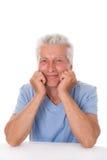 Portret szczęśliwy starszy mężczyzna obraz stock