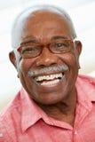 Portret Szczęśliwy Starszy mężczyzna W Domu Obrazy Stock