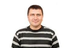 Portret szczęśliwy w średnim wieku mężczyzna Zdjęcia Royalty Free