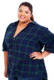 Z nadwagą nastoletnia dziewczyna Zdjęcie Stock