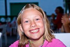 Portret szczęśliwa dziewczyna Zdjęcia Royalty Free