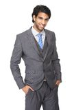 Portret szczęśliwy młody biznesowego mężczyzna ono uśmiecha się Obraz Royalty Free
