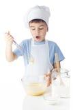 Portret szef kuchni chłopiec Zdjęcia Royalty Free