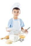 Portret szef kuchni chłopiec Zdjęcie Stock