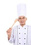Portret szefa kuchni główkowanie Fotografia Royalty Free
