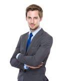 portret tło biznesmena bieli odizolowanych young Obraz Royalty Free