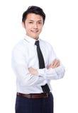 portret tło biznesmena bieli odizolowanych young Zdjęcia Royalty Free