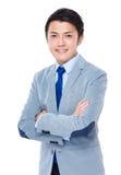 portret tło biznesmena bieli odizolowanych young Zdjęcie Stock