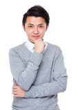 portret tło biznesmena bieli odizolowanych young Fotografia Royalty Free
