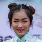 Portret Tajlandzka dziewczyna bangkok Thailand Zdjęcie Stock