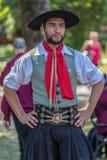 Portret tancerza mężczyzna od Argentyna w tradycyjnym kostiumu Obrazy Stock